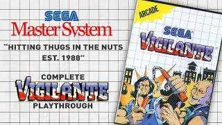 VIGILANTE Playthrough - Gameplay   Sega Master System / SMS