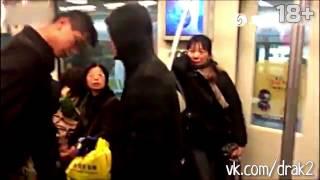 Айкидо в китайском метро(Видео предназначено только для взрослой аудитории, 18+ =Video for adults only= Китаец показал приём айкидо в вагоне..., 2015-09-10T18:46:41.000Z)