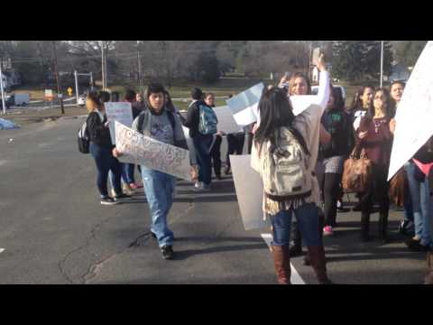 BLM walk out with students @ Paulo Freire Social Justice Charter School.
