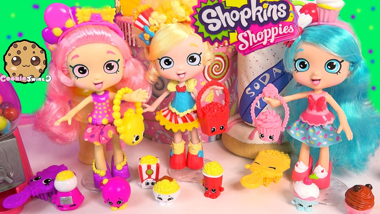 3 Shopkins Shoppies Dolls Poppette Jessicake Bubbleisha
