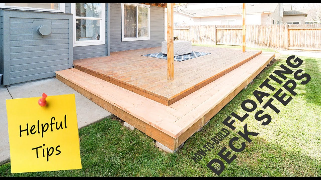 How To Build Steps For Floating Deck
