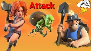 Valks & Miners TH10 3 Star Attack! Strategy Triples Against Ring Base Clash of Clans Town Hall 12👉