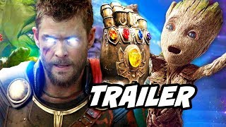 Avengers Infinity War Trailer 2 - Thor Meets Guardians of The Galaxy