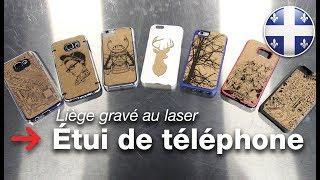 Étui de téléphone gravé au laser | Étui de téléphone de liège | Trotec