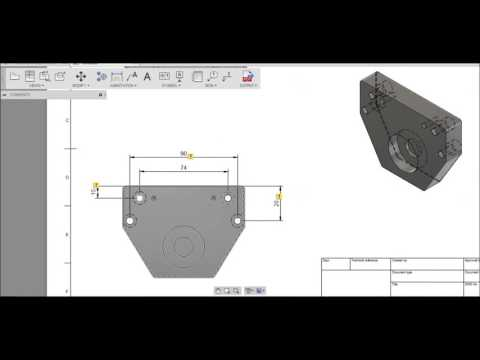 """Fusion 360 """"Create a drawing from your design"""""""