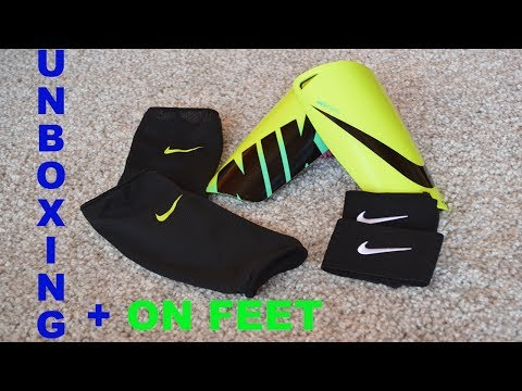 Nike Mercurial Lite Shin Guards / Schienbeinschoner Unboxing & ON FEET | FABITV