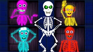 The Funny Wrong Doors Puzzle Challenge | Learn Colors With Crazy Dancing Skeletons by Teehee Town