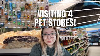 Visiting 4 Different Pet Stores In One Day!   Pet Store Vlog