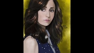 Tracy  McConnell Mosby - Cristin Milioti HIMYM - The Mother Speed Painting Video