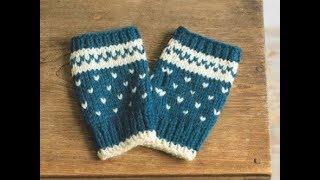Митенки для начинающих.  Простейшие митенки, как связать,обзор Урок 169 How to knit mitts - Видео от Вяжем вместе VZVM.RU Уроки вязания для начинающих