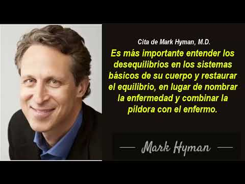"""Mark Hyman, M D  Marcha atrás a la """"diabeticidad"""" y solución al azúcar en la sangre"""