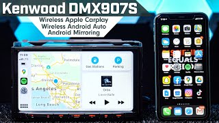 Kenwood DMX907S - Wireless Android Auto/Apple Carplay & Wireless Android Mirroring