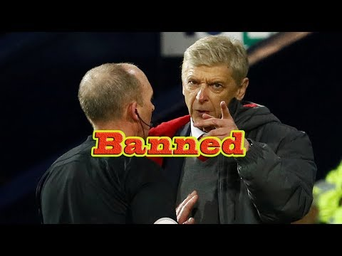 Arsenal manager Arsene Wenger banned for three matches and fined £40,000