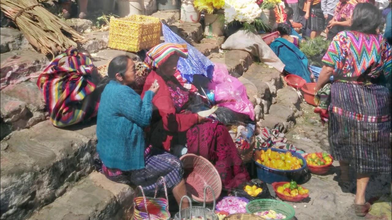 At the market in Chichicastenango, Guatemala.