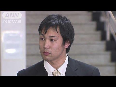 競泳・冨田選手の裁判 防犯カメラ映像を公開(15/04/10)