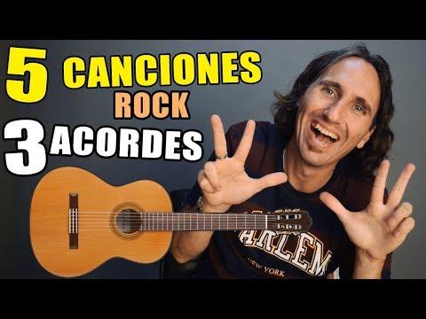 5  grandes canciones de rock fáciles con ¡solo 3 acordes! Guitarra acústica para principiantes