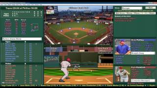 Baseball Mogul 5 23 2016 Tigers vs Phillies Pelfrey vs Kendrick
