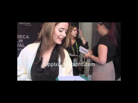 Marguerite Moreau  Signing Autographs at the Tribeca Film Festival in NYC