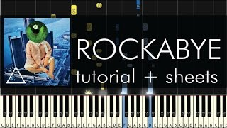 clean bandit rockabye ft sean paul anne marie piano tutorial sheets