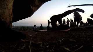 Hampi - Sunset place - yoga