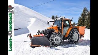 """Déneigement 2018 dans les Alpes : Tracteur """"Lintrac With Noremat"""" - Etrave Arvel - Chaines RSC"""