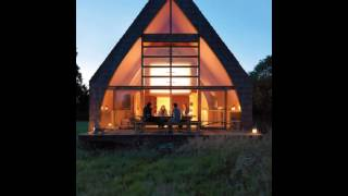 Wooden A-frame Off-the-grid Country Home: A Charming Diy Project In France