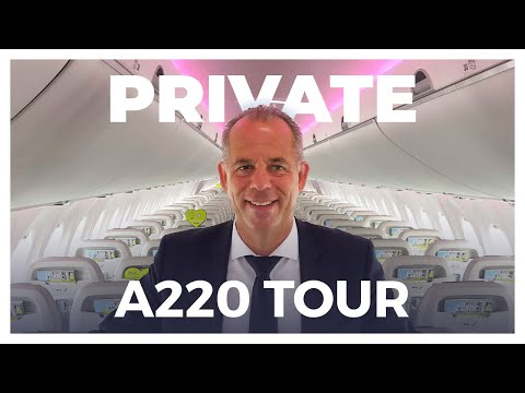 A PRIVATE Tour Of AirBaltic's New Airbus A220