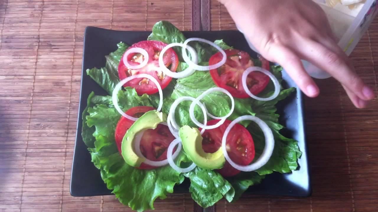 Ensalada verde platos ligeros youtube - Como decorar una ensaladilla rusa ...