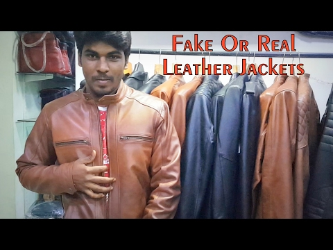 Fake or Real Leather Jackets | Dharavi Sion Mumbai | Shaan Leathers Collections