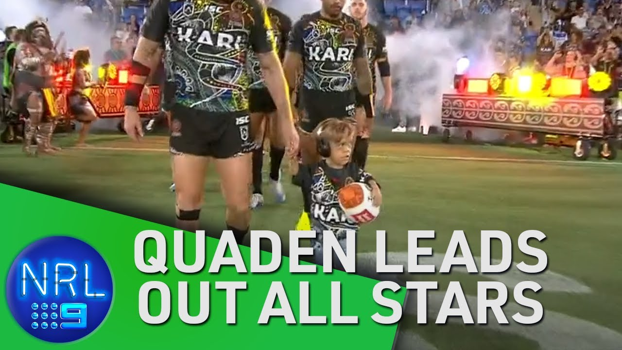 Bullied Quaden leads out all-star rugby team