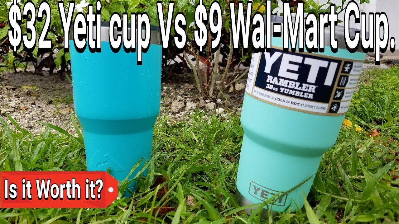 Yeti Cup Vs  Ozark Walmart Cup Is It Worth It Suprising Outcome