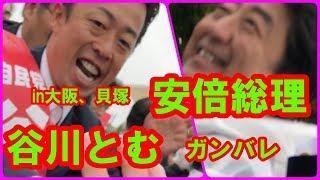 安倍首相トム応援in貝塚 安倍首相が谷川とむの応援に大阪にやってきました。