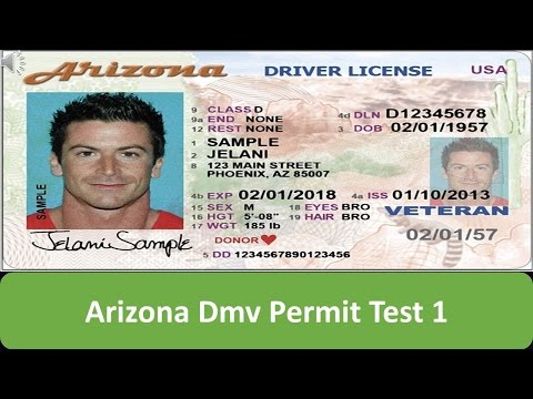 Arizona DMV Permit Test 1