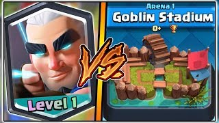 MAGIC ARCHER TROLLING ARENA 1 IN CLASH ROYALE | FUNNY MOMENTS & MAGIC ARCHER GAMEPLAY!