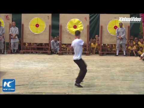 Foreigners' Kung Fu show at Shaolin Temple in Henan, China