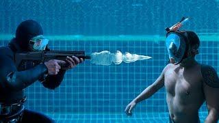 Was geschah, als er unter Wasser erschossen wurde?