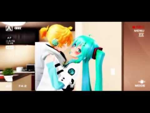 【 MMD Short 】【 Len x Miku 】 NU, U CANT KISS ME
