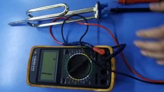 Обзор, проверка тэна водонагревателя, прозвонить тэн. Ремонт бойлера, как пользоваться мультиметром