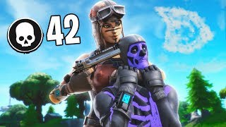 42 KILLS SOLO vs SQUADS World Record (Fortnite Season 9 Most Kills)