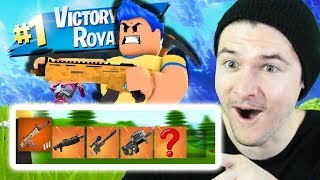 FULL GOLD LEGENDARY LOADOUT TO WIN ROBLOX FORTNITE! (Island Royale)