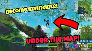 Fortnite Glitches Season 5 (Working) Become Invincible Under The Map PS4/Xbox one 2018