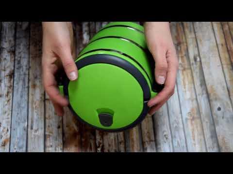 Термо ланч бокс из нержавеющей стали Three Layers Lunchbox