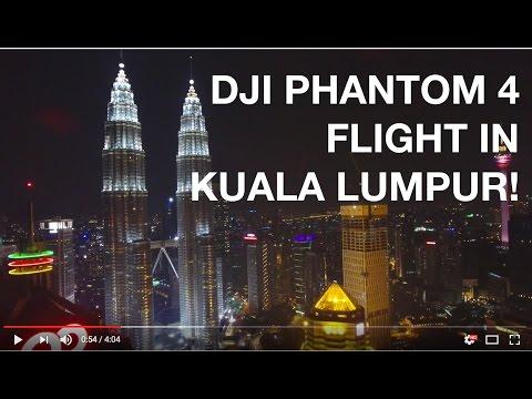 DJI Phantom 4 Drone flying in Kuala Lumpur, MALAYSIA!
