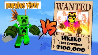 SEASON 4 PART 5 | BURNING FIGHT MONSTER SCHOOL AND THE 7 EMPEROR Minecraft Animations