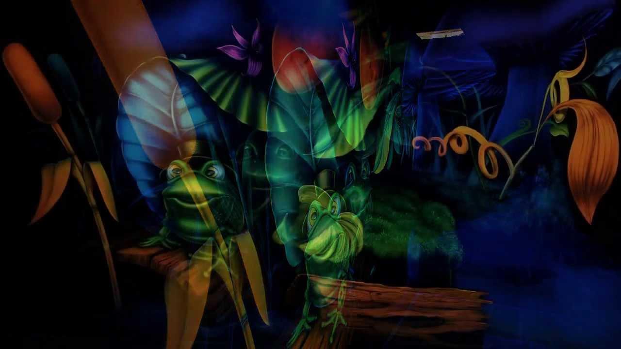 Hand Painted Murals In Black Light Uv Chromadepth 3d