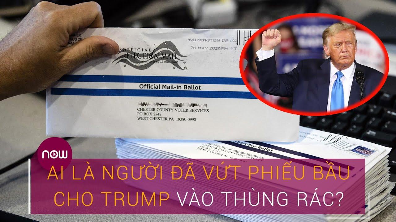 Cập nhật bầu cử Tổng thống Mỹ 2020: Ai là người đã vứt phiếu bầu cho Trump vào thùng rác? | VTC Now