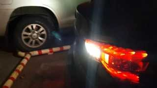 Диодные фонари Infiniti FX S51 - задний ход (custom LED tail lights - brake lights)