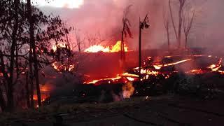 Leilani Estates Hawaii Lava Flow Fissure 5 Kahukai 5/22/2018 Part 6