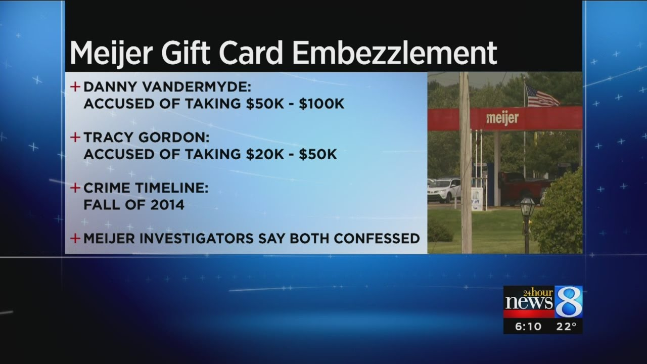 2 employees charged with embezzling from Meijer - YouTube
