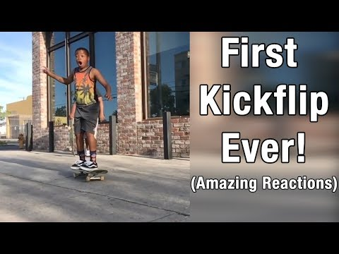 People Land Kickflip for The FIRST TIME!